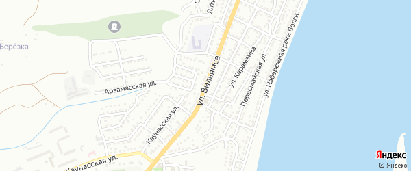 Улица Вильямса на карте Астрахани с номерами домов