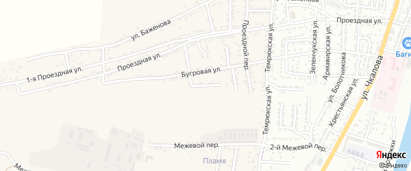 Жигулевская улица на карте села Старокучергановка с номерами домов