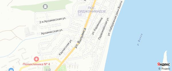 Северский переулок на карте Астрахани с номерами домов