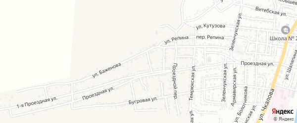 Проездной 4-й переулок на карте села Старокучергановка с номерами домов