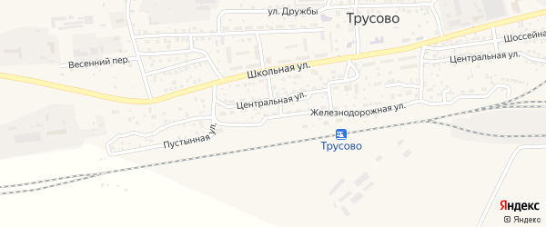 Железнодорожная улица на карте населенного пункта Разъезда N2 с номерами домов