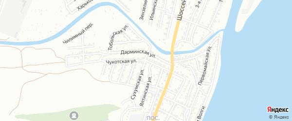 Чукотская улица на карте Астрахани с номерами домов