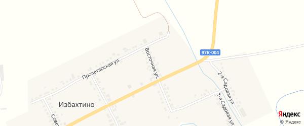 Восточная улица на карте деревни Избахтино с номерами домов