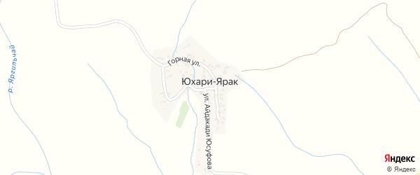 Горная улица на карте села Юхари-Ярака с номерами домов