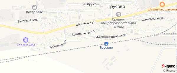 Железнодорожная улица на карте населенного пункта Разъезда N3 с номерами домов