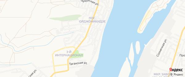 СТ Луч при ОАО Астраханский рыбокомбинат на карте Астрахани с номерами домов