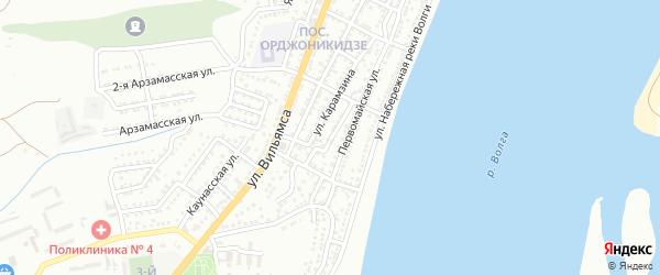 Северская улица на карте Астрахани с номерами домов