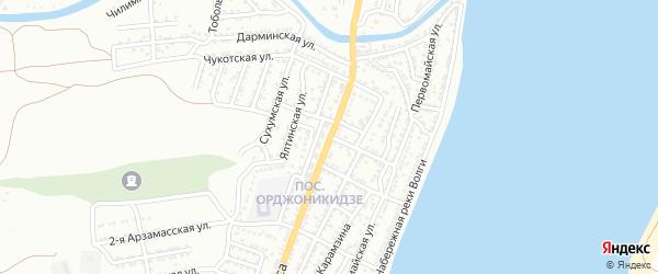 Бухарская улица на карте Астрахани с номерами домов