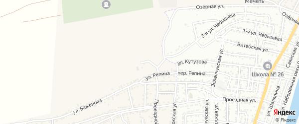 Концевая улица на карте села Старокучергановка с номерами домов
