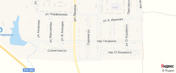 Садовая улица на карте поселка Урмары с номерами домов