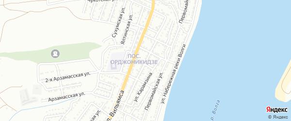 Кировоградская улица на карте Астрахани с номерами домов