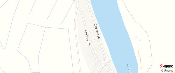 Степная улица на карте Полдневого села с номерами домов