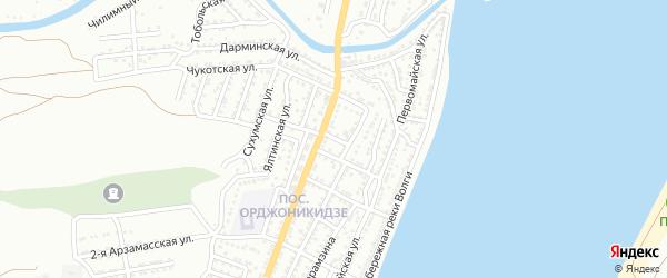 Минский переулок на карте Астрахани с номерами домов