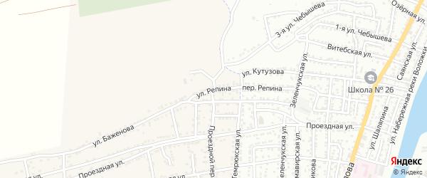 Улица Репина на карте села Старокучергановка с номерами домов
