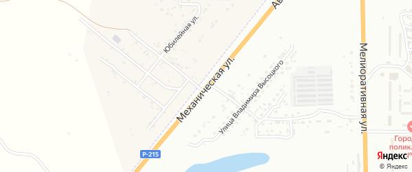 Механическая улица на карте Астрахани с номерами домов