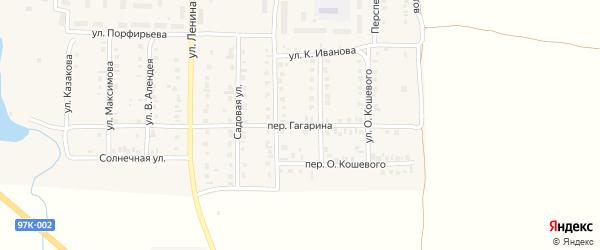 Переулок Гагарина на карте поселка Урмары с номерами домов
