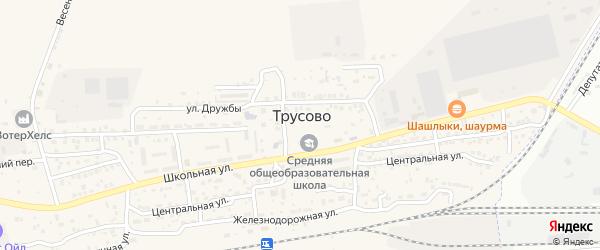 Тихий переулок на карте поселка Трусово с номерами домов