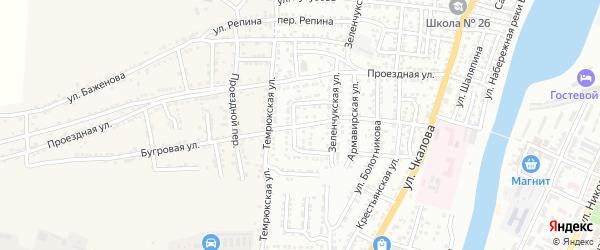 Бугровая улица на карте Астрахани с номерами домов