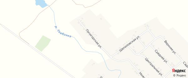 Пятигорская улица на карте деревни Малой Таяба с номерами домов