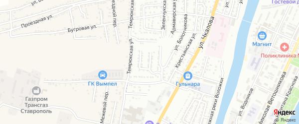 Ипатовская улица на карте Астрахани с номерами домов