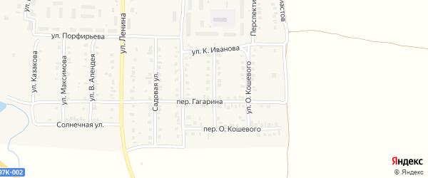 Улица Гагарина на карте поселка Урмары с номерами домов