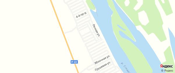 СДТ Строитель на карте Наримановского района с номерами домов