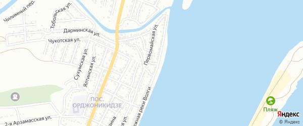 Широкий переулок на карте Астрахани с номерами домов