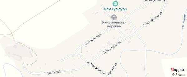 Нагорная улица на карте села Байгулово с номерами домов