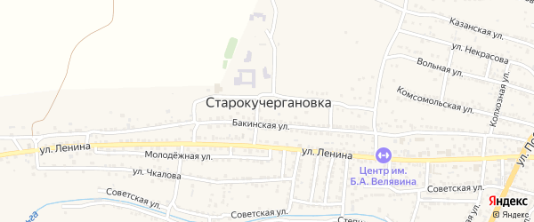 Тополиная улица на карте села Старокучергановка с номерами домов