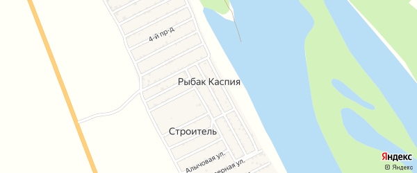 Подгорная улица на карте садового товарищества Рыбака Каспия с номерами домов