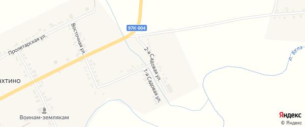 Садовая 2-я улица на карте деревни Избахтино с номерами домов