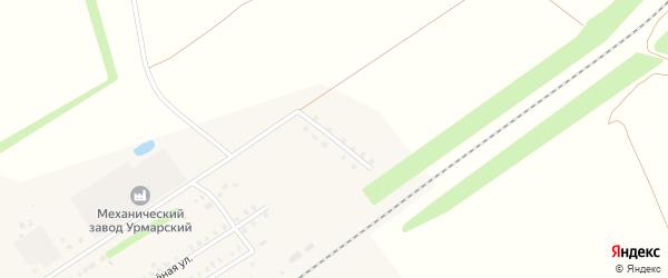 Улица Железнодорожников на карте поселка Урмары с номерами домов