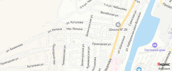 Улица Баженова на карте Астрахани с номерами домов