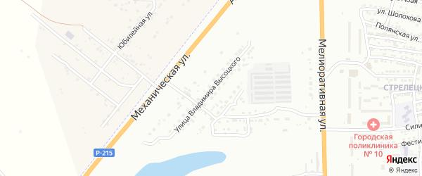 Улица Владимира Высоцкого на карте Астрахани с номерами домов