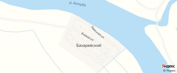 Боевая улица на карте Бахаревский поселка с номерами домов
