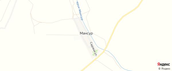 СТ сдт Шельф на карте поселка Мансура с номерами домов