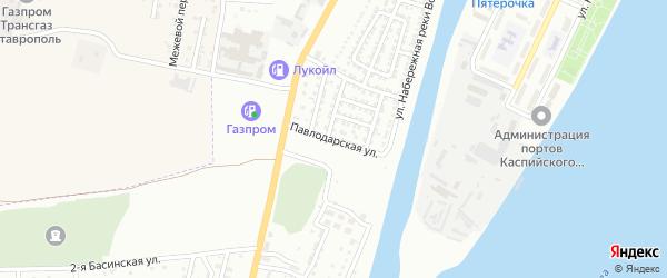 Павлодарская улица на карте Астрахани с номерами домов