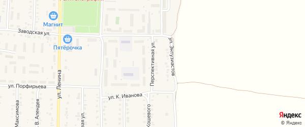 Перспективная улица на карте поселка Урмары с номерами домов