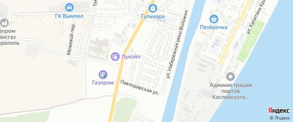 Невская улица на карте Астрахани с номерами домов