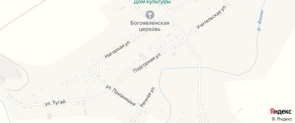 Подгорная улица на карте села Байгулово с номерами домов