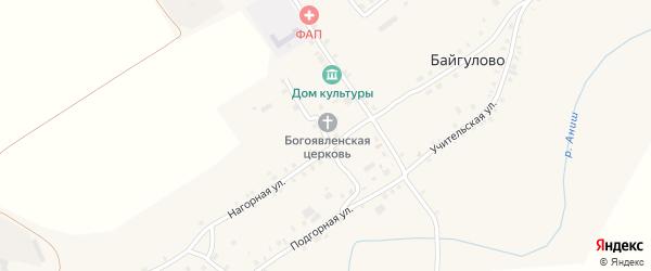 Церковный переулок на карте села Байгулово с номерами домов