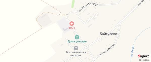 Улица М.Трубиной на карте села Байгулово с номерами домов