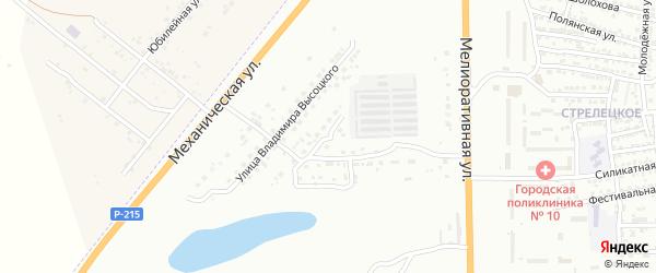 Опытная улица на карте Астрахани с номерами домов