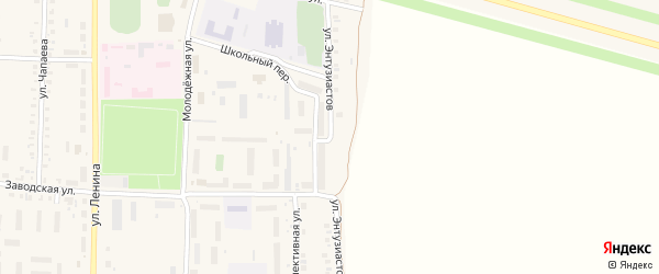 Улица Энтузиастов на карте поселка Урмары с номерами домов