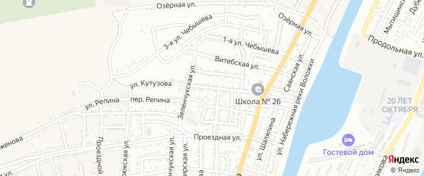 Улица Кутузова на карте Астрахани с номерами домов