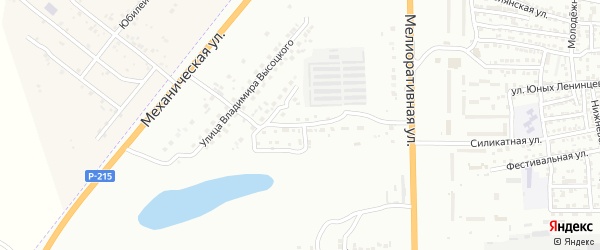 Экспериментальная улица на карте Астрахани с номерами домов