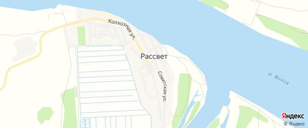 СТ сдт Волгарь на карте села Рассвета с номерами домов