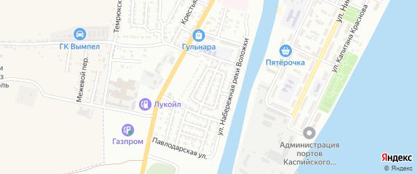 Ленинградская улица на карте Астрахани с номерами домов