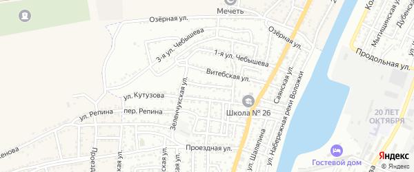 Переулок Джамбула на карте Астрахани с номерами домов