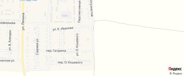 Улица Н.Капитоновой на карте поселка Урмары с номерами домов